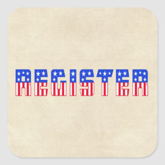 Stars & Stripes Register Square Sticker