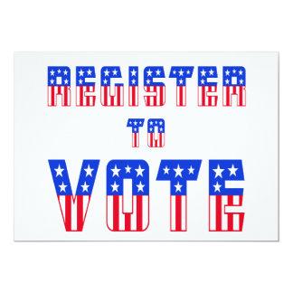 Stars & Stripes Register to Vote Card
