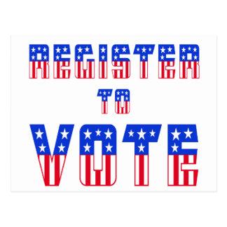 Stars & Stripes Register to Vote Postcard