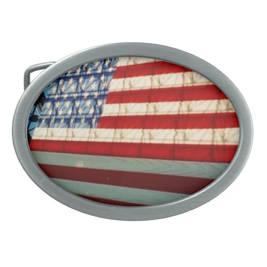 stars stripes shadows belt buckle