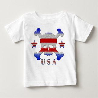 Stars & Stripes Skull USA Patriotic Baby T-Shirt