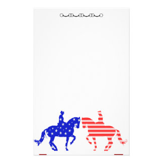 Stars & Stripes (USA) Dressage Custom Stationery
