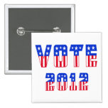 Stars & Stripes Vote 2012 Button