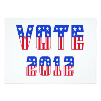Stars & Stripes Vote 2012 Card