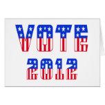 Stars & Stripes Vote 2012 Cards