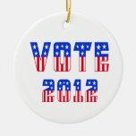 Stars & Stripes Vote 2012 Ornament