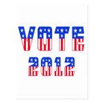 Stars & Stripes Vote 2012 Post Cards