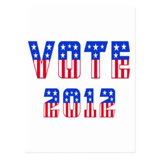 Stars & Stripes Vote 2012 Postcard