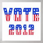 Stars & Stripes Vote 2012 Poster