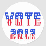 Stars & Stripes Vote 2012 Stickers