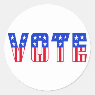 Stars & Stripes Vote Round Stickers