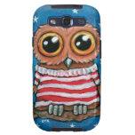 Stars & Stripes Wide Eye Owl Painting Samsung Galaxy SIII Case