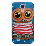 Stars & Stripes Wide Eye Owl Painting Samsung Galaxy S4 Cases