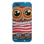 Stars & Stripes Wide Eye Owl Painting iPhone 5 Covers