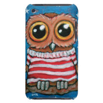 Stars & Stripes Wide Eye Owl Painting iPod Touch Case-Mate Case
