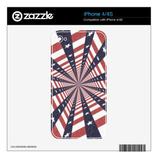 STARS & STRIPES WILD PERSPECTIVE SKIN FOR THE iPhone 4