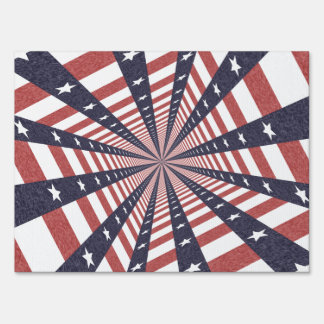 STARS & STRIPES WILD PERSPECTIVE LAWN SIGNS