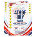 Stars & Stripes with Fireworks 4th Of July Party Invitation