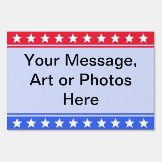 Stars & Stripes Your Message Yard Sign