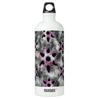 Stars studded in Black Mosaic Water Bottle