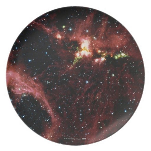 Stars Surrounded by Gas Dinner Plate