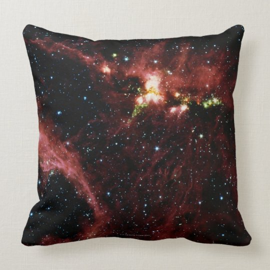 Stars Surrounded by Gas Throw Pillow