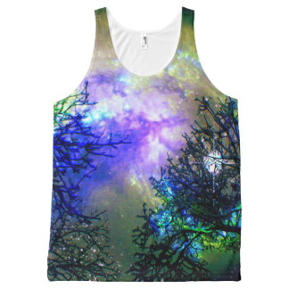 Stars Through The Trees All Over Print Ttank All-Over Print Tank Top