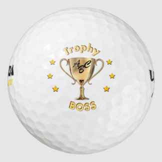 Stars Trophy Cup for a Trophy 'Boss'. Golf Balls