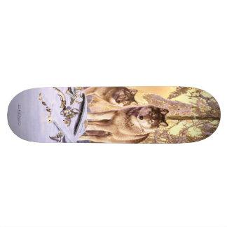 """""""Stars Under Snow"""" Skateboard Deck"""