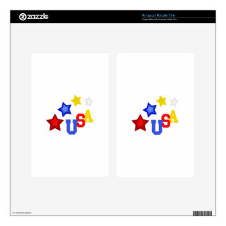 STARS USA DECALS FOR KINDLE FIRE