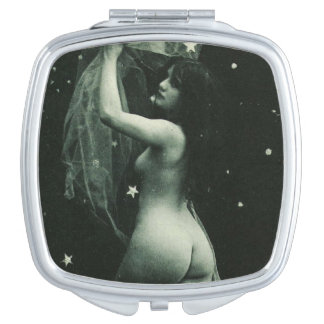 Stars Vintage French Erotica Sexy Nude Pin-Up Girl Mirror For Makeup