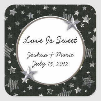 Stars Wedding Candy Buffet Sticker