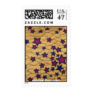 """Stars"" West African WAx Print Stamp"