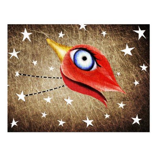 Stars Winter Bird Postal