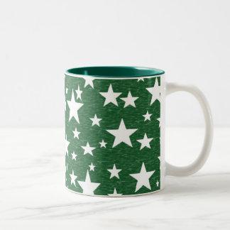 Stars with Green Background Mug