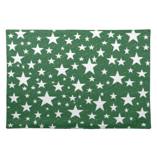 Stars with Green Background Placemat