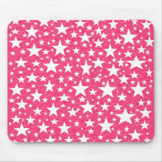 Stars with Hot Pink Background Mousepad