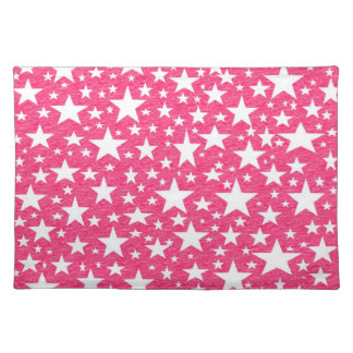 Stars with Hot Pink Background Placemat