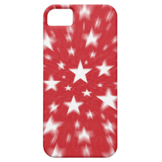 Stars With Red Background Blur iPhone Case iPhone 5 Case