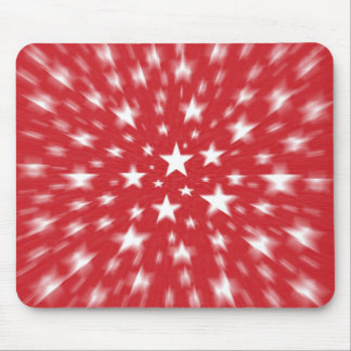 Stars With Red Background Blur Mousepad