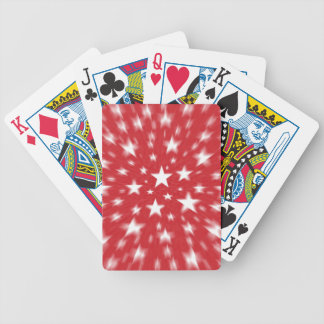 Stars With Red Background Blur Playing Cards