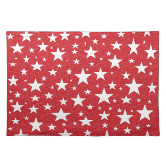 Stars with Red Background Placemat