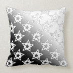 Stars Within a Star Pattern Gradient White Design Throw Pillow (<em>$49.60</em>)
