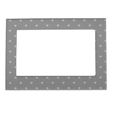 Stars Within Hearts on Gray Magnetic Frame