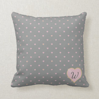 Stars Within Hearts on Gray Pillow