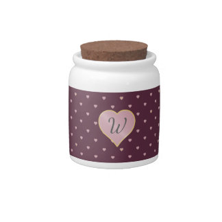 Stars Within Hearts on Port Candy Jar