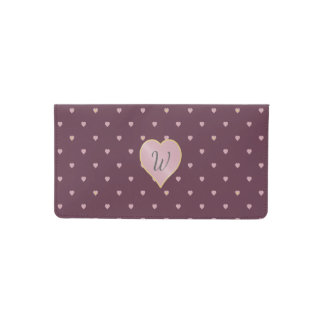 Stars Within Hearts on Port Checkbook Cover