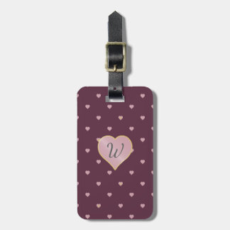 Stars Within Hearts on Port Luggage Tag