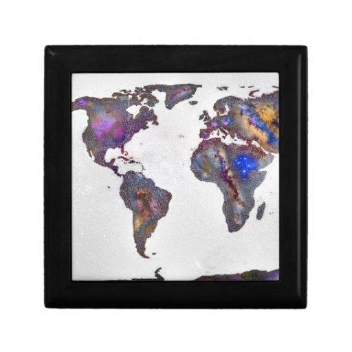 Stars world map keepsake box