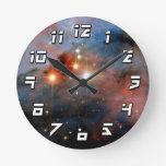 Stars WR 25 & Tr16-244 in Carina Nebula Round Clocks